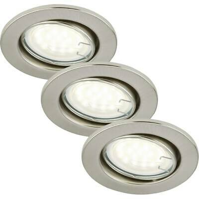 Spot encastrable LED GU10 Briloner 7208-032 blanc chaud 9 W nickel (mat) jeu de
