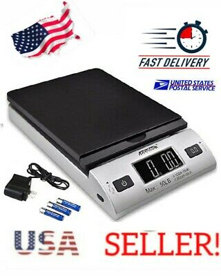 Accuteck 50lb x 0.2oz All-In-One Digital Shipping Postal Scale W/AC *US SELLER!*