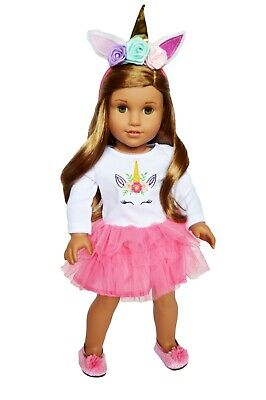 Brittany's Doll Clothes Pink Unicorn Outfit for 18 Inch American Girl Dolls
