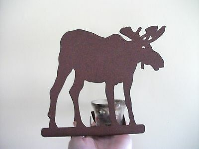ENTHUSE Copper Color Metal Moose Votive Tea Light Candle Holder RUSTIC LODGE