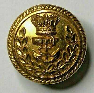 19th Century Royal Navy Admirals Gilt button 22 mm By P Highatt Gosp0rt
