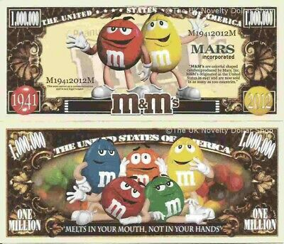 M & M's Colourful Candies Million Dollar Bills x 2 Candy Sweets