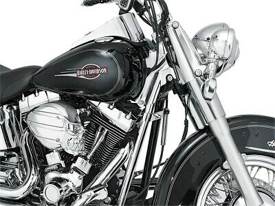 Kuryakyn 7853 Chrome Downtube Covers for 00-06 Harley Davidson Softail Heritage