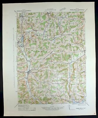 1942 FRANKLINVILLE New York Vintage Military Army Corp of Engineers Topo Map