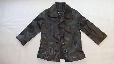 Renee Raquel Black Faux Leather Girls Jacket size 2T