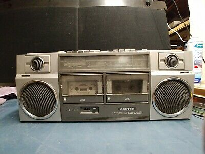 CONTEC Boombox 2 Band Radio Dual Cassette Recorder 8822A