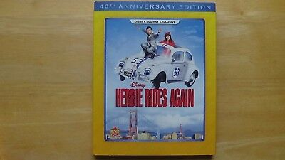 Disney HERBIE RIDES AGAIN 40th Anniversary Edition Blu-Ray New Sealed w/ Sleeve