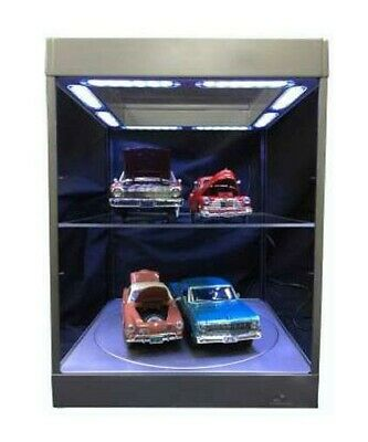 Display Case with Lighting for Model Cars (silver) T9 NUOVO