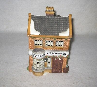 Department 56 Dickens Village Geo Weeton Watchmaker 1988