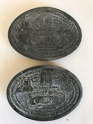 2 Vintage Bellamy Brothers Manna-Pro Agricultural Hall of Fame Belt Buckles 9A