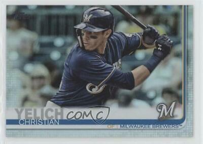 2019 Topps Rainbow Foil #300 Christian Yelich Milwaukee Brewers Baseball Card
