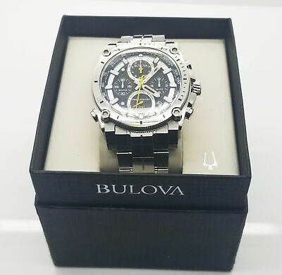 Bulova Precisionist Men's Chronograph 96B175 Black Dial Watch