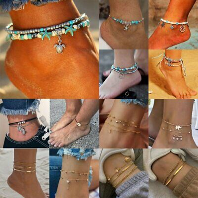 Charm Boho Ankle Bracelet Anklet Chain Foot Beach Sandal Jewelry Gift For Women