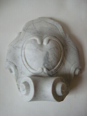 antique white marble architectural FRAGMENT salvage carved stone facade corbel