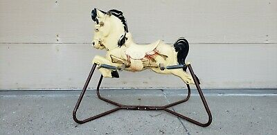 Vintage Spring Rocking Horse Toy, King Prancer