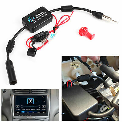 New Truck Auto Car 12V FM&AM Radio Inline Antenna Signal Amp Amplifier Booster