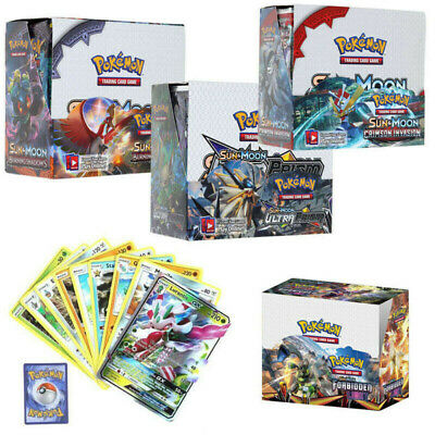 324Pcs 36 Packs Pokemon Cards Go Card Rare TCG Booster Box English Edition Break