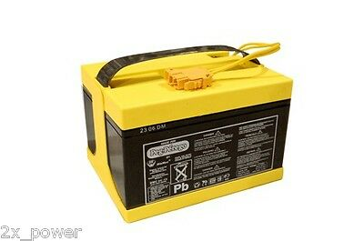 Peg Perego 24 Volt Yellow Battery IAKB0522 Authentic OEM Super power 24V Gaucho