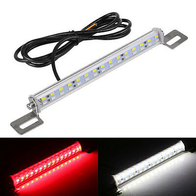 30LED 12v Car License Plate Backup Reverse Brake Rear Light Lamp Bar Red+White