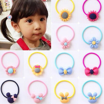 Hair Bobbles Elastic Stretchy Band Girls Tie Hairbands Ponytail Random Color