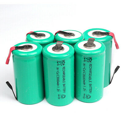 Lot 3000mAh Ni-CD C Size 1.2V Rechargeable Battery With Tab Univerisal