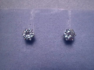e622d519b Moissanite Earrings 1 carat twt Screwback 14K Yellow 6 prong Charles and  Colvard
