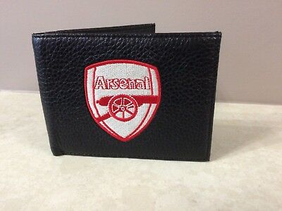Embroidered Crest Leather Football Club Sports Team Money Wallet Coin Purse