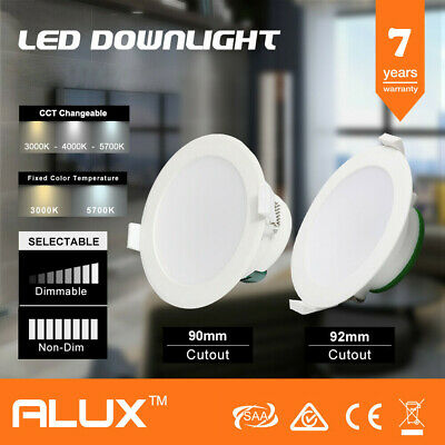 12W Ip44 Non-Dim Led Downlight 90Mm Cutout Warm & Natural & Cool White Saa