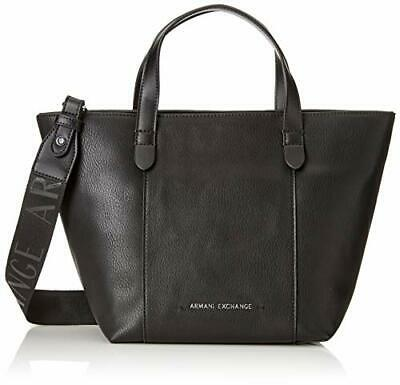 afffffc457 ARMANI EXCHANGE Stitched Medium Shopper Bag - Borse a tracolla Donna, Nero  (Bla