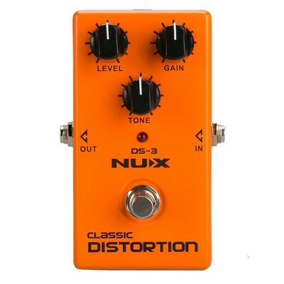 1X(NUX DS-3 Distortion Pedal Analog Guitar Tube distortion effects pedal CrQ3K3)