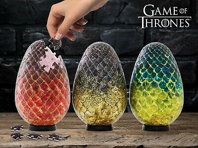 Game of Thrones | Set of 3 Dragon Eggs 3D Jigsaw Puzzle | 4D Cityscape