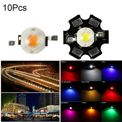 3W Watts High Power LED COB Chip Lights Beads White Red Blue Yellow With PCB