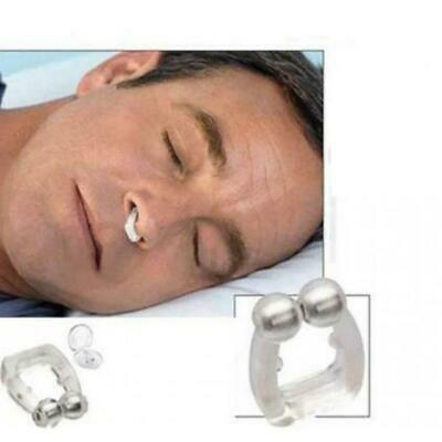 Silicone Magnetic Anti Snore Stop Snoring Nose Clip Sleeping Aid Apnea Guard CAF