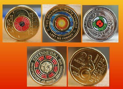 $2 coins Repatriation - Invictus - Eternal Flame - Remembrance Day - 2018 NZ 50c