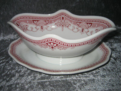 Sauciere Hutschenreuther Maria Theresia Windsor Rot