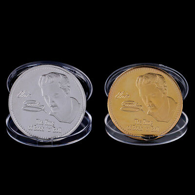 Elvis Presley 1935-1977 the King of N Rock-Roll gold art commemorative coin HC