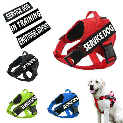 No Pull Large Dog Harness Reflective Outdoor Training Walk Strap Vest & 2 patch