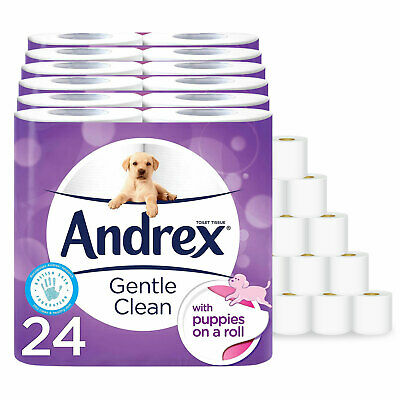 Andrex 2ply Toilet Tissue Roll - Gentle Clean (24/48 Rolls)