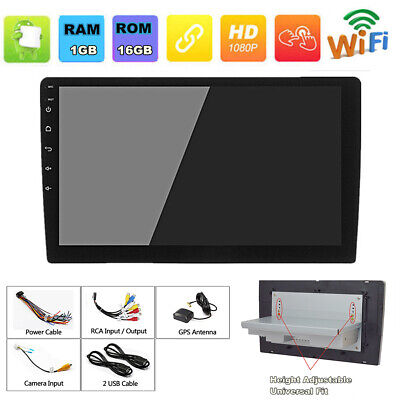 "9"" 1DIN Android 8.1 Adjustable Car Stereo Radio GPS Wifi BT DAB Quad-core 1+16G"