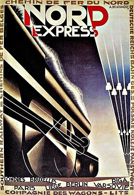 TX113 Vintage Nord Express Paris Berlin Riga Railway Travel Poster A1//A2//A3