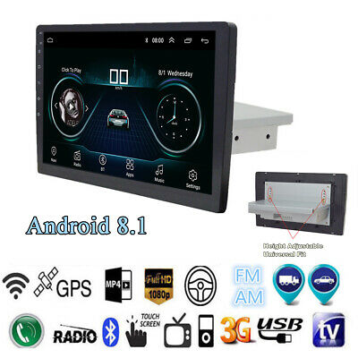 "1Din 9"" Quad-core Android 8.1 Car Touch Stereo Radio GPS Navi Wifi BT 1+16G OBD"