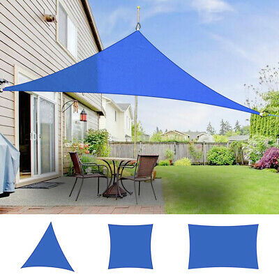 Outdoor Sun Shade Sail Garden Patio Sunscreen Awning Canopy Shade UV Block Blue