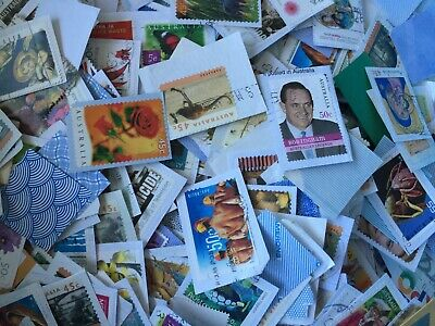 Australian Stamps mixed denominations 40 45 50 55 60 65 70 80 $1 Kiloware 5 kg
