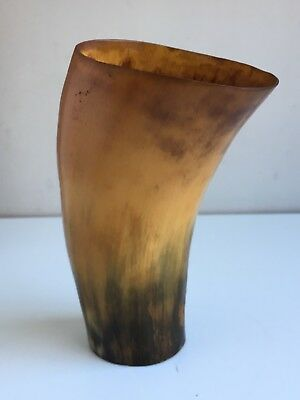 Old Vintage Antique Horn Beaker