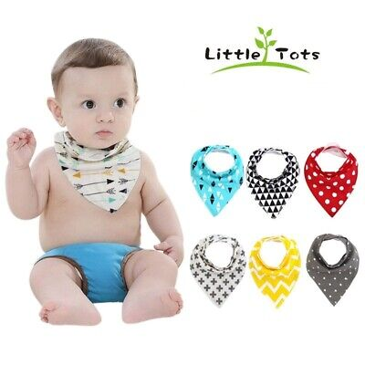 Baby Bibs Bandana Drool Bib 4 Pack Absorbent Cotton Gift Set Reversible & Soft
