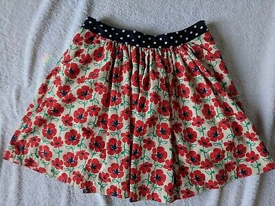 Next Floral Girls lined Polyester / Cotton skirt age 12