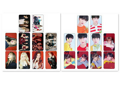 10pcs BLACKPINK TXT Card Stickers Bus Card DIY HD Photo Sticker LISA ROSE Gift