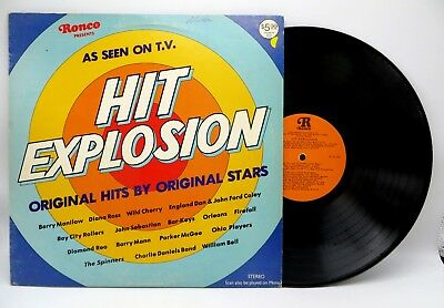 Hit Explosion - Various Artists 18 Rock & Disco Songs - Ronco 1977 LP Record EX