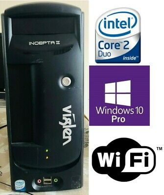 Viglen Incepta II Windows 10 Pro, Intel Core 2 4400 @ 2GHz, 2GB Ram, 80GB HD.