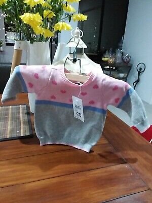 Baby Girls Loveheart Jumper. Size 000.target Baby Brand.new With Tags.